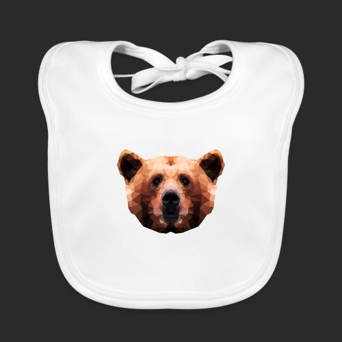 Low-Poly Bear - Baby Bio-Lätzchen