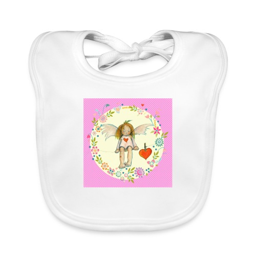 Kleiner rosa Engel - Baby Bio-Lätzchen