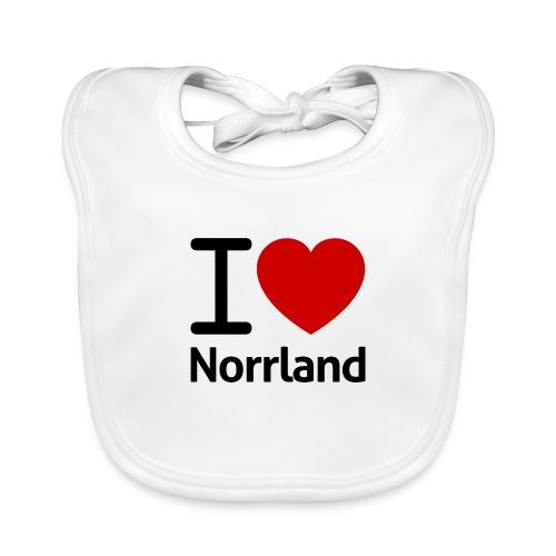 Jag Älskar Norrland (I Love Norrland) - Ekologisk babyhaklapp