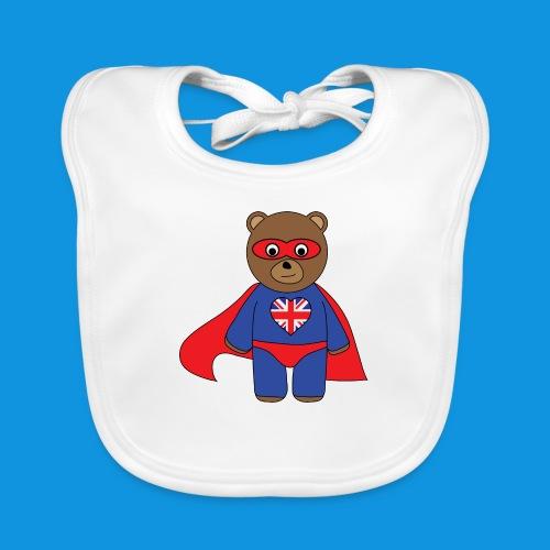 British Hero Bear tank - Baby Organic Bib