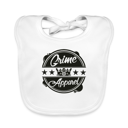 Grime Apparel Emblem Print Shirt. - Baby Organic Bib