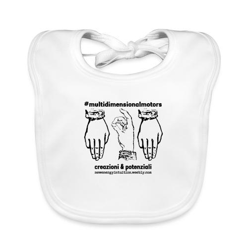 logo #MultiDimensionalMotors con segni mano - Bavaglino ecologico per neonato