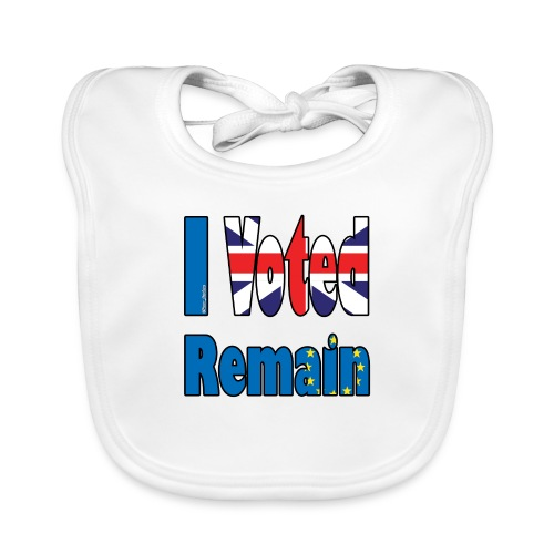 I Voted Remain referendum - Baby Organic Bib