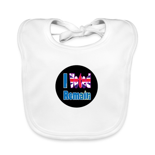 I Voted Remain badge EU Brexit referendum - Baby Organic Bib