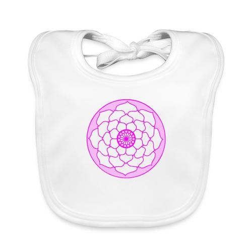 Pink Lotus Flower Mandala - Baby Organic Bib