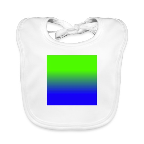 Linear pattern of green and blue - Organic Baby Bibs