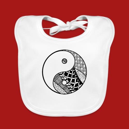 Decorative-Yin-Yang - Baby økologisk hagesmæk