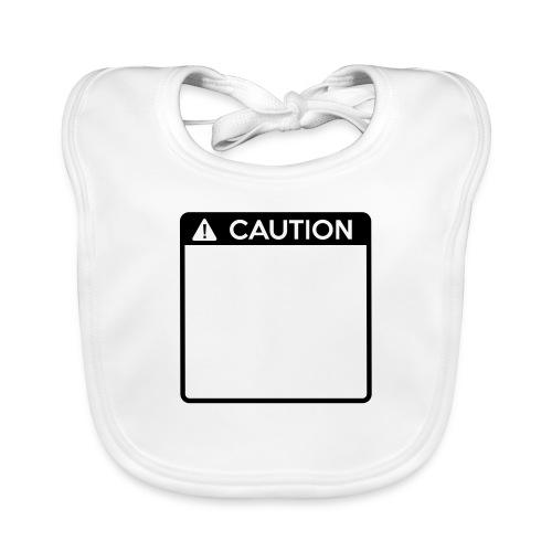 Caution Sign (1 colour) - Baby Organic Bib