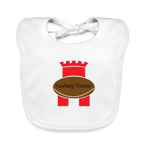Fan logo Voorburgse Rugbyclub - Bio-slabbetje voor baby's