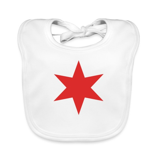 Red Chicago Star - Organic Baby Bibs