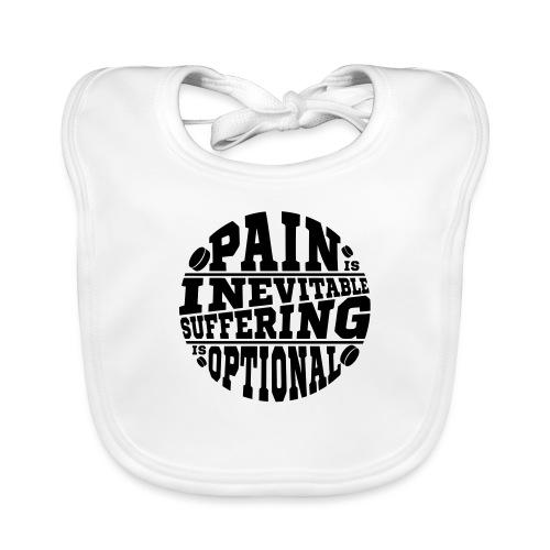 Pain is Inevitable Suffering is Optional (Hockey) - Baby Organic Bib