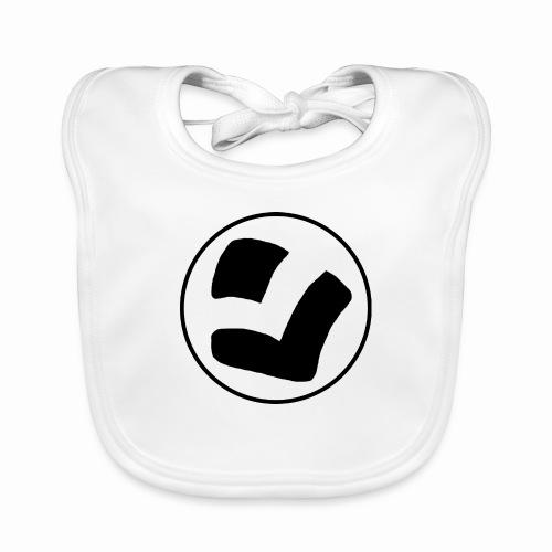 LaidPark Black Logo - Vauvan luomuruokalappu