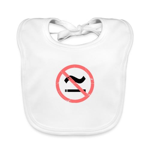 The Commercial NO SMOKING (Salmon) - Organic Baby Bibs