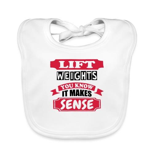 Lift Weights - Baby Organic Bib