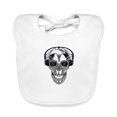 Skull chrome electrique - Bavoir bio Bébé