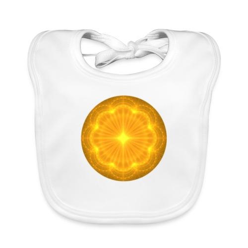 Golden Radiance Mandala Heart - Bio-slabbetje voor baby's