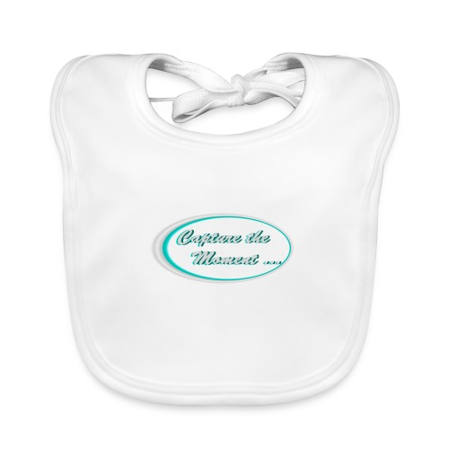 Logo capture the moment photography slogan - Baby Organic Bib