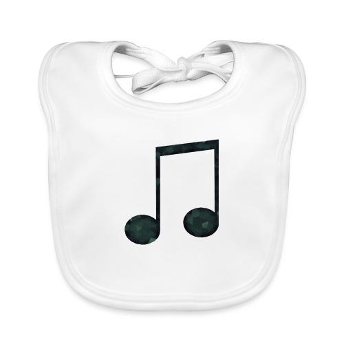 Low Poly Geometric Music Note - Baby Organic Bib