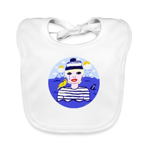 the sailor in love with the sea - Baby Bio-Lätzchen