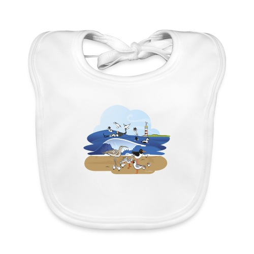 See... birds on the shore - Organic Baby Bibs