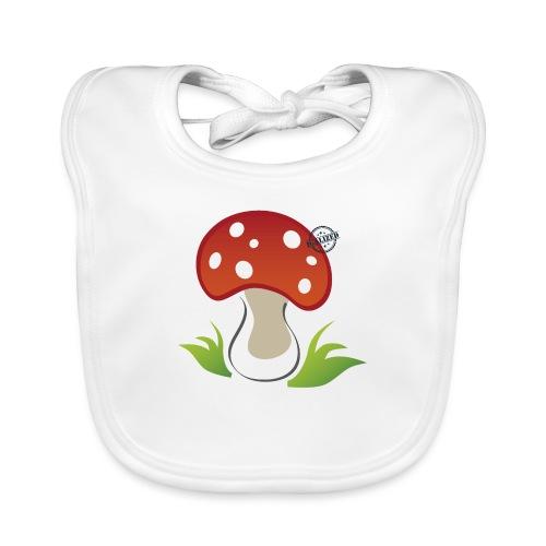 Mushroom - Symbols of Happiness - Baby Organic Bib