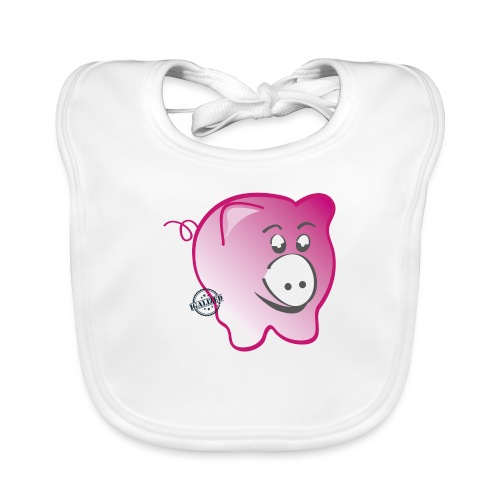 Pig - Symbols of Happiness - Baby Organic Bib