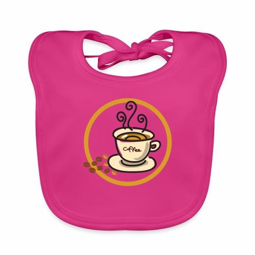 Kaffeeemblem - Baby Bio-Lätzchen