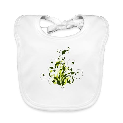 Flora - Babero de algodón orgánico para bebés