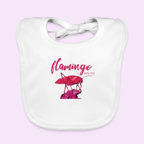 Wannabe Flamingo Sprinkhaan HOT PINK BABY - Bio-slabbetje voor baby's