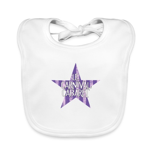 bonnet LCC noir etoie violette - Baby Organic Bib