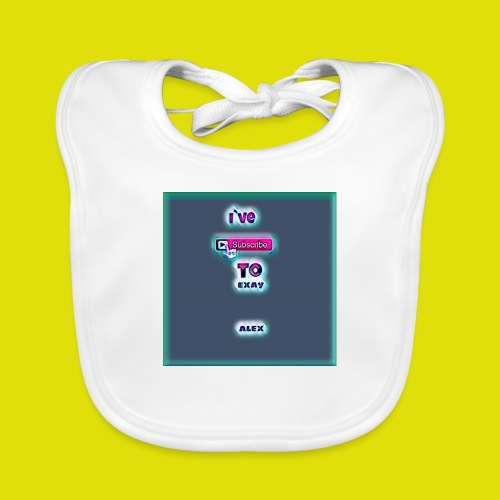 baby tshirt with ive subed to my channel - Baby Organic Bib