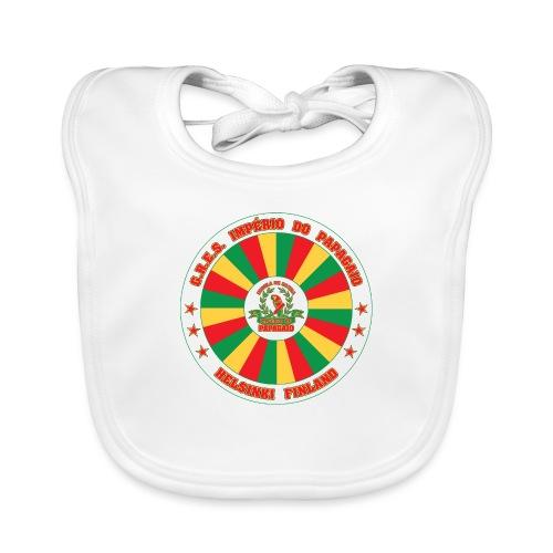 Papagaio drum logo - Vauvan luomuruokalappu