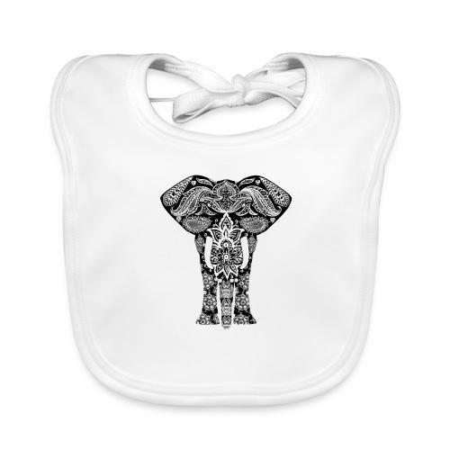 Ażurowy słoń - Ekologiczny śliniaczek