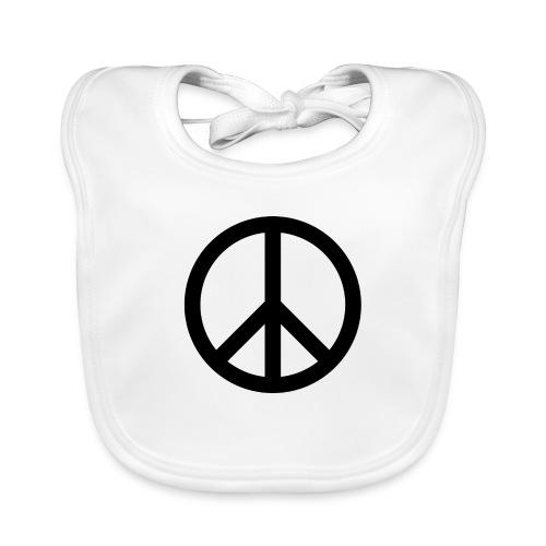 Peace Teken - Bio-slabbetje voor baby's