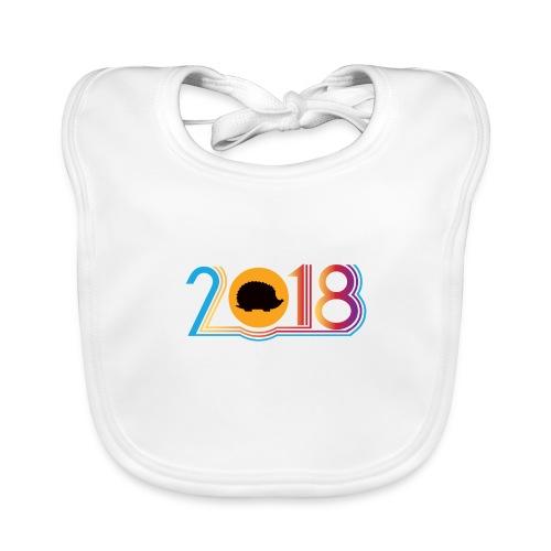 Frohes neues Jahr 2018 Igeldesign - Baby Bio-Lätzchen