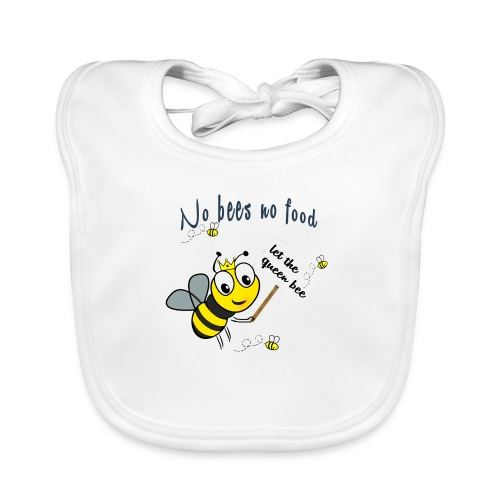 Save the bees with this cute design! Red de bij - Bio-slabbetje voor baby's