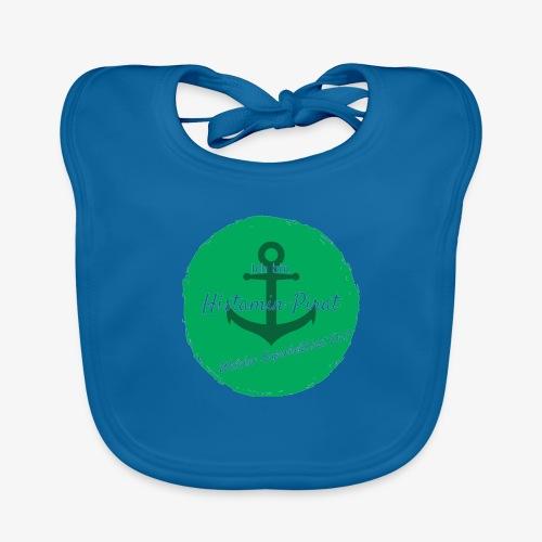 Histamin-Pirat Superheld (grün) - Baby Bio-Lätzchen