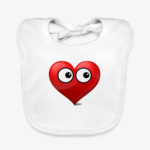 cœur avec yeux - Bavoir bio Bébé