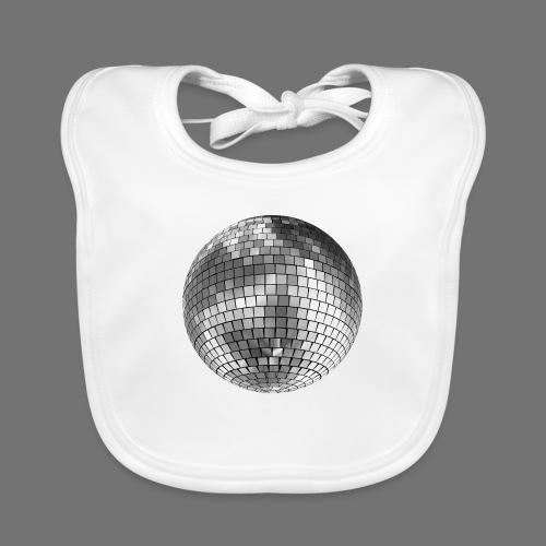 Disco kugle spejl bold - Baby økologisk hagesmæk