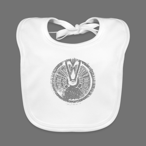 Maschinentelegraph (gray oldstyle) - Organic Baby Bibs