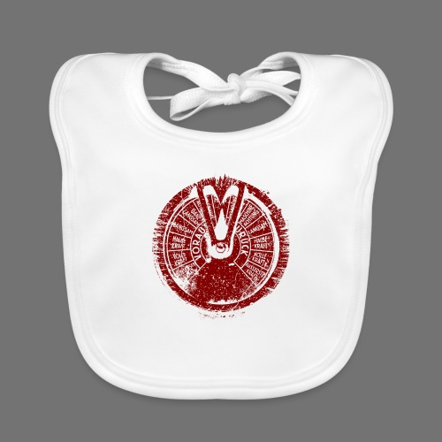 Maschinentelegraph (red oldstyle) - Organic Baby Bibs