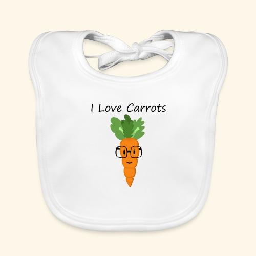 Love Carrots - Babero de algodón orgánico para bebés