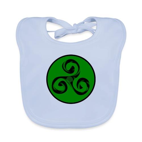 Triskel and Spiral - Babero ecológico bebé