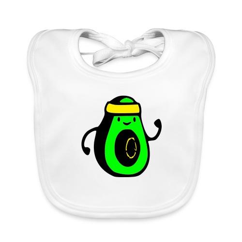 aguacate ninja - Babero de algodón orgánico para bebés