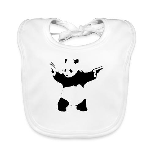 oso panda pistolas - Babero de algodón orgánico para bebés