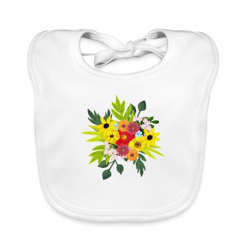 Flower_arragenment - Baby Organic Bib