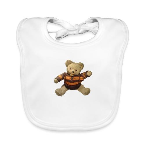 Teddybär - orange braun - Retro Vintage - Bär - Baby Bio-Lätzchen