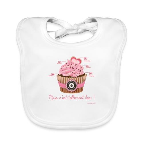 cupcake rose 2 - Bavoir bio Bébé