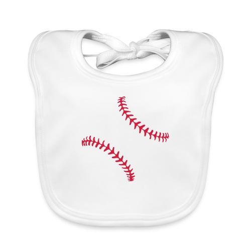 Realistic Baseball Seams - Organic Baby Bibs