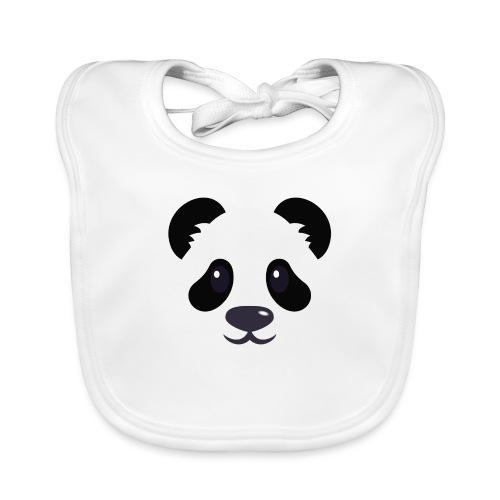 Panda émoticône - Bavoir bio Bébé